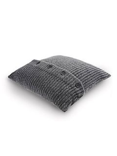 Brunello Cucinelli Cashmere Paillette Throw Pillow   Grey