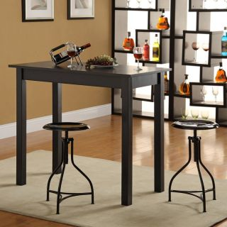 Carolina Chair and Table Co Tavern 3 Piece Black Pub Table Set   with Ansley