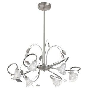 Dainolite DAI 94 256C PSC Universal 6 Light Chandelier,Polished Chrome and Satin