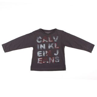 Calvin Klein Boys Black Calvin Klein Jeans Shirt (BlackLong sleeves Crew neck Materials 100 percent cottonCare instructions Machine wash cold, and warm iron )