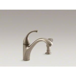 Kohler K 10416 BV Forte Single Handle Kitchen Faucet with Sidespray