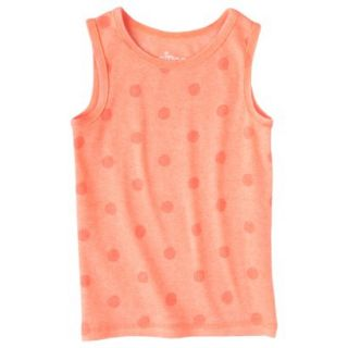 Circo Infant Toddler Girls Ribbed Polka Dot Tank Top   Moxie Peach 3T