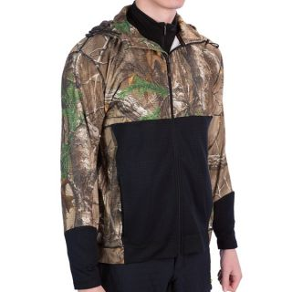 Terramar Camo 3.0 GEO Fleece Full Zip Hoodie   UPF 50+  Heavyweight (For Men)   REALTREE XTRA/LODEN (XL )