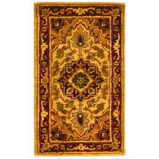 Safavieh Classic Light Gold / Red Rug CL763A 24/CL763A 5OV