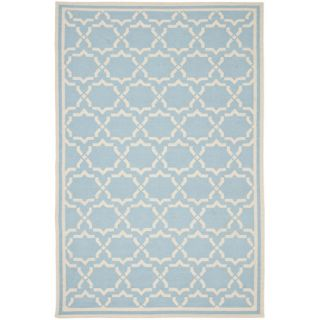 Safavieh Dhurries Light Blue/Ivory Rug DHU545B Rug Size 5 x 8