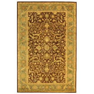 Safavieh Antiquities Brown/Green Rug AT14F Rug Size 5 x 8
