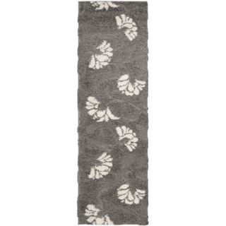 Safavieh Florida Shag Light Gray Rug SG459 8013 Rug Size Runner 23 x 7