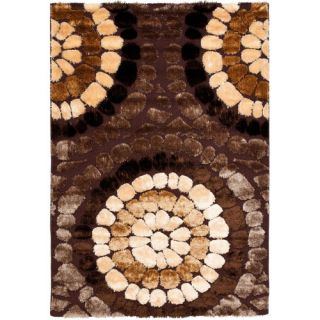 Safavieh Miami Shag Brown/Multi Rug SG357 2591 Rug Size 6 x 9