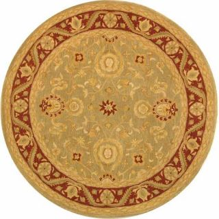 Safavieh Anatolia Light Green/Red Rug AN548A Rug Size Round 6
