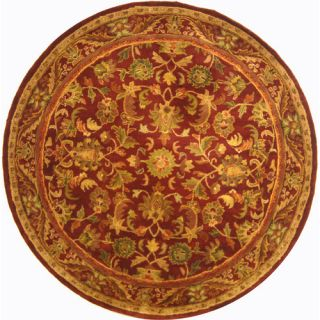 Safavieh Antiquities Majesty Wine/Gold Rug AT52B Rug Size Round 6