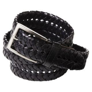 Merona Mens Braided Leather Belt   Black   XL