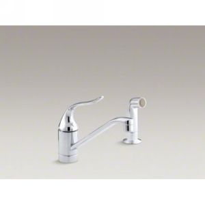 Kohler K 15176 P CP Coralais Single Handle Kitchen Faucet with Sidespray