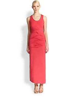 Nicole Miller Jersey Maxi Dress   Candy Pink