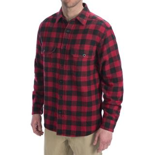 Woolrich Oxbow Bend Flannel Shirt   Cotton  Long Sleeve (For Men)   MOCCASIN (2XL )