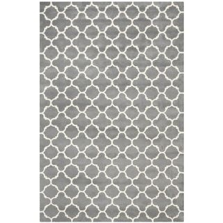 Safavieh Chatham Contemporary Handmade Moroccan Dark Gray Wool Rug (6 X 9)