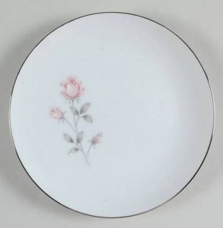 Royal Prestige Rose Crest Salad Plate, Fine China Dinnerware   Pink&White Roses,