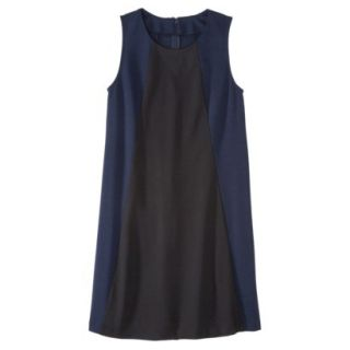 Mossimo Womens Colorblock Shift Dress   Xavier Navy/Black XXL