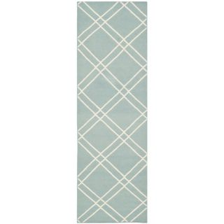 Safavieh Dhurries Light Blue/Ivory Rug DHU638C Rug Size Runner 26 x 8