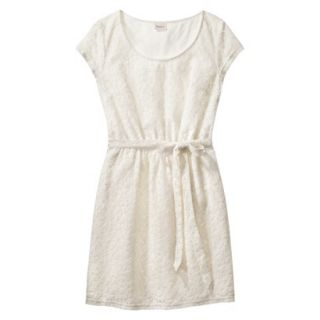Merona Womens Lace Sheath Dress   Sour Cream   L