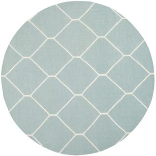 Safavieh Dhurries Light Blue/Ivory Rug DHU635C Rug Size Round 6
