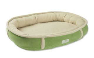 Wraparound Dog Bed With Memory Foam / Large   Dogs 50 80 Lbs., Grass, Large