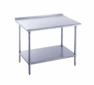 Advance Tabco 72 Work Table   36 W Top, Raised Rear Edge, 16 ga 430 Stainless