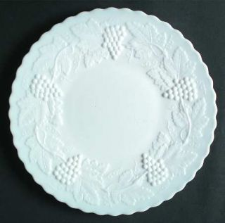 Imperial Glass Ohio Vintage Grape Milk Glass Dinner Plate   Milk Glass,Grape Des