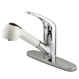 Elements of Design Daytona Single Handle Centerset Kitchen Faucet with Pullou