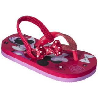 Toddler Girls Minnie Mouse Sandals   Red L