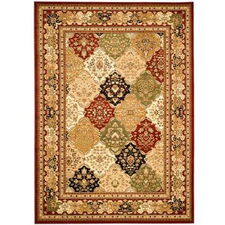 Lyndhurst Collection Multicolor/ Red Rug (8 X 11)