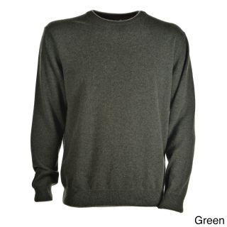 Luigi Baldo Italian Made Mens Cashmere Crew Neck Sweater