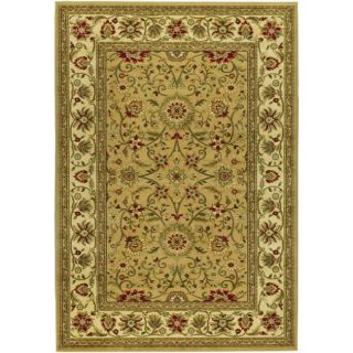 Lyndhurst Collection Majestic Beige/ Ivory Rug (4 X 6)