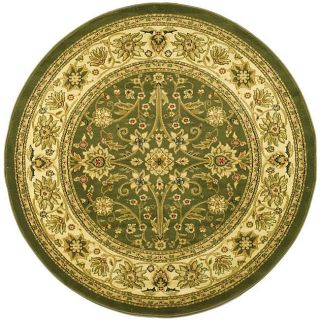 Lyndhurst Collection Majestic Sage/ Ivory Rug (53 Round)