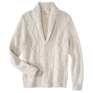 Merona Mens Shawl Collar Cardigan   Oatmeal Flecks XXL