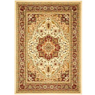 Lyndhurst Collection Ivory/red Traditional Rug (8 X 11)