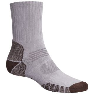 Eurosock Path Hiker Socks   Crew (For Men and Women)   SILVER/BROWN (M )