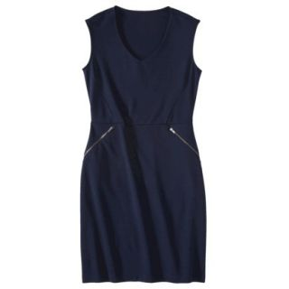 Mossimo Womens Ponte Sleeveless Dress w/ Zippered Pockets   Xavier Navy XXL