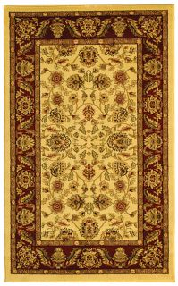 Lyndhurst Collection Tabriz Ivory/ Red Rug (33 X 53) (IvoryPattern OrientalMeasures 0.375 inch thickTip We recommend the use of a non skid pad to keep the rug in place on smooth surfaces.All rug sizes are approximate. Due to the difference of monitor co