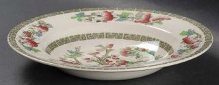 Johnson Brothers Indian Tree (Green Key, Cream) Rim Soup Bowl, Fine China Dinner
