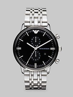 Emporio Armani Classic Stainless Steel Watch   No Color