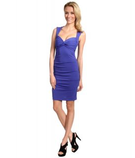 Nicole Miller Felicia Matte Jersey Dress Womens Dress (Blue)