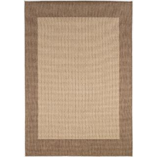Couristan Recife Checkered Field Natural Cocoa Rug 1005/3000X Rug Size 86
