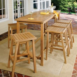 Oxford Garden Dartmoor 79 in. Bar Height Patio Dining Set   Seats 6   DM79STU