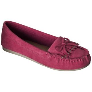 Womens Mossimo Supply Co. Lenia Genuine Suede Moccasin   Red 8