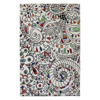 Mohawk Home Painted Window Indoor/Outdoor Rug Multicolor   90012 6013 063094, 5.