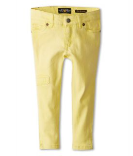 Lucky Brand Kids Girls Sunfaded Stretch Twill Zoe Ankle Capri Girls Jeans (Yellow)