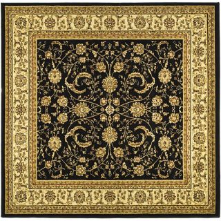 Lyndhurst Collection Black/ Ivory Rug (6 Square)