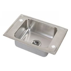 Elkay DRKAD2522 5 Lustertone ADA Compliant Double Ledge Single Bowl Classroom Si