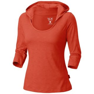 Mountain Hardwear Lochvale Hooded Shirt   3/4 Sleeve (For Women)   RED CANYON (M )