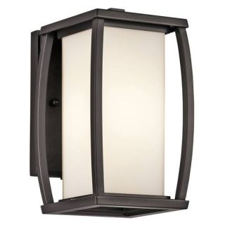 Kichler 49336AZ Outdoor Light, Transitional Wall Lantern 1 Light Fixture Architectural Bronze